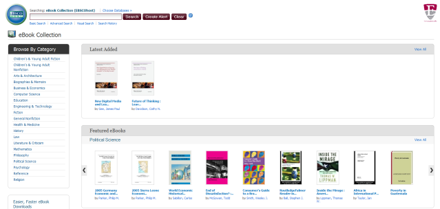 Ebook Collection in EBSCOHOST (previously NetLibrary)