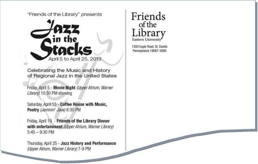 Jazz in the Stacks dates