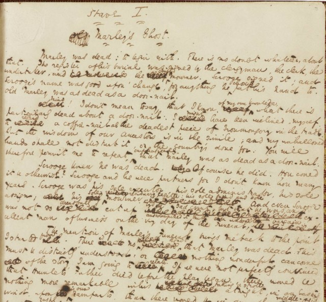 "Dickens, Charles. ""A Christmas Carol."" Manuscript. The Morgan Library & Museum"