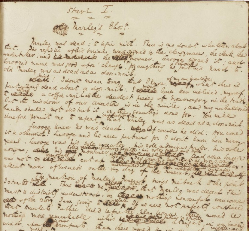 "Dickens, Charles. ""A Christmas Carol."" Manuscript. The Morgan Library & Museum"